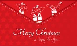 Feliz Navidad, invitación, postal Fotografía de archivo libre de regalías