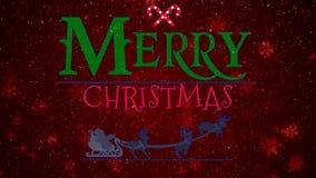 Feliz Navidad 4K de las nevadas rojas metrajes
