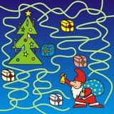 Feliz Navidad - laberinto stock de ilustración