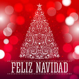 Feliz navidad - Merry Christmas spanish text Stock Photo