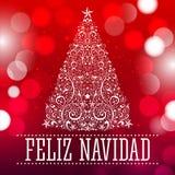 Feliz navidad - Merry Christmas spanish text Stock Photo