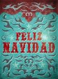Feliz Navidad - Merry Christmas spanish text Stock Images