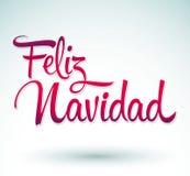 Feliz Navidad - Merry Christmas spanish Stock Image