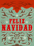 Feliz Navidad - Merry Christmas spanish text Stock Images