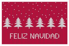Feliz Navidad-Merry Christmas Vector Illustration. Abstract White Christmas Trees. vector illustration