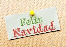 Feliz Navidad Message Stock Image