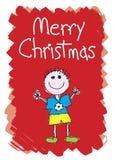 Feliz Navidad - muchacho ilustración del vector