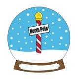 Feliz Navidad Norte Snowglobe de Polo imagen de archivo