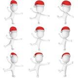 Feliz Navidad Santa Claus Dancing Set ilustración del vector