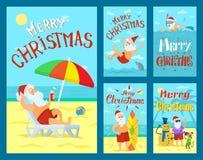 Feliz Navidad, Santa Claus Holidays Adventures ilustración del vector
