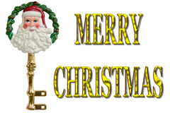 Feliz Navidad Santa Key Decoration Imágenes de archivo libres de regalías