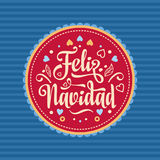 Feliz Navidad Scheda di natale Lingua spagnola Fotografia Stock Libera da Diritti