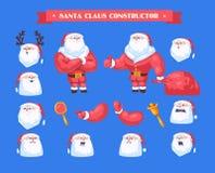 Feliz Navidad sistema de Papá Noel del vector libre illustration