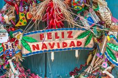 Feliz Navidad is Spanish for Merry Christmas. Feliz Navidad is Merry Christmas holiday in Spanish language celebrate with festive decorations royalty free stock image