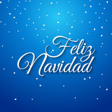 Feliz navidad spanish vector card. Mery Christmas greeting banner holiday celebration. Christmas typography feliz navidad Royalty Free Stock Image