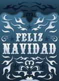 Feliz Navidad - spanjortext för glad jul royaltyfri illustrationer