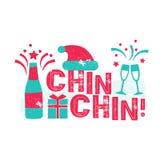 Feliz Navidad - spanskt språk för glad jul vektor illustrationer