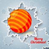 Feliz Navidad, tarjeta de felicitación del Año Nuevo - papel Foto de archivo libre de regalías