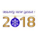 Feliz Navidad, tarjeta de felicitación de la Feliz Año Nuevo en el fondo blanco Fotos de archivo