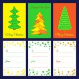 Feliz Navidad Tarjetas imprimibles stock de ilustración