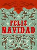Feliz Navidad - texto do espanhol do Feliz Natal Imagens de Stock