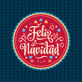 Feliz navidad. Xmas card. Spanish language. Feliz navidad. Xmas card on Spanish language. Warm wishes for happy holidays in Spain. English translation: Merry Stock Photography