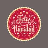 Feliz navidad. Xmas card. Spanish language. Feliz navidad. Xmas card on Spanish language. Warm wishes for happy holidays in Spain. English translation: Merry Royalty Free Stock Photos