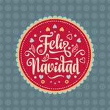 Feliz navidad. Xmas card. Spanish language. Feliz navidad. Xmas card on Spanish language. Warm wishes for happy holidays in Spain. English translation: Merry Royalty Free Stock Images