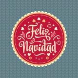 Feliz navidad. Xmas card. Spanish language. Feliz navidad. Xmas card on Spanish language. Warm wishes for happy holidays in Spain. English translation: Merry Royalty Free Stock Photography