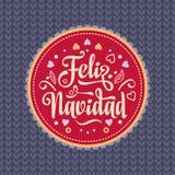 Feliz navidad. Xmas card. Spanish language. Feliz navidad. Xmas card on Spanish language. Warm wishes for happy holidays in Spain. English translation: Merry Royalty Free Stock Image