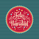 Feliz navidad. Xmas card. Spanish language Royalty Free Stock Photography