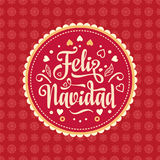 Feliz navidad. Xmas card. Spanish language Stock Photos