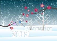 Feliz Navidad y Feliz Año Nuevo 2019 fotografía de archivo libre de regalías