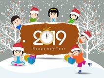 Feliz Navidad y Feliz Año Nuevo 2019 fotos de archivo libres de regalías