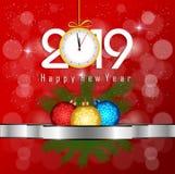 Feliz Navidad y Feliz Año Nuevo 2019 fotos de archivo