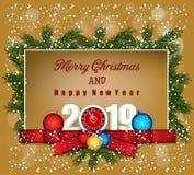 Feliz Navidad y Feliz Año Nuevo 2019 foto de archivo libre de regalías