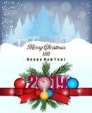Feliz Navidad y Feliz Año Nuevo 2019 imagen de archivo