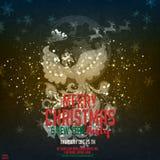 Feliz Navidad y Feliz Año Nuevo Ejemplo con Phoenix, deseo de la Feliz Año Nuevo y Santa Claus ilustración del vector