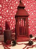 Feliz Navidad y Año Nuevo en colores rojos Imagenes de archivo