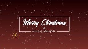 Feliz Navidad y Feliz Año Nuevo Una animación de saludo libre illustration