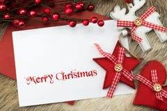 Feliz Navidad y buenas fiestas tarjeta Fotos de archivo