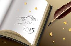 Feliz Navidad y Felices Año Nuevo de saludo 2015 Imagenes de archivo
