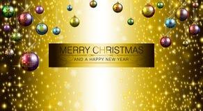 Feliz Navidad y Feliz Año Nuevo 2015 ilustración del vector