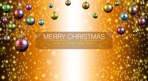 Feliz Navidad y Feliz Año Nuevo 2015 stock de ilustración