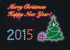 ¡Feliz Navidad y Feliz Año Nuevo! fotos de archivo libres de regalías