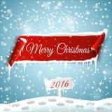Feliz Navidad y Feliz Año Nuevo 2016 Fotografía de archivo