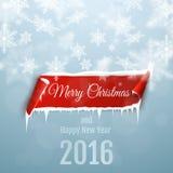 Feliz Navidad y Feliz Año Nuevo 2016 Imagen de archivo