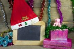 Feliz Navidad y Feliz Año Nuevo, aún vida Imagen de archivo libre de regalías