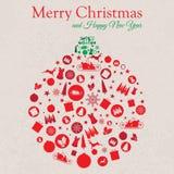 Feliz Navidad y Feliz Año Nuevo Colage Imagen de archivo