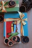 Feliz Navidad y Feliz Año Nuevo 2 de los deseos Fotografía de archivo libre de regalías